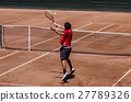 Tennis at the clay court (volley) 27789326