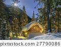 tree, house, winter 27790086