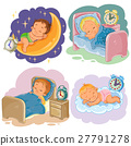 Set illustration babies sleep 27791278