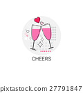 Valentine Day Gift Card Holiday Love Icon Stamp 27791847