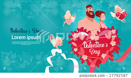 Valentine Day Gift Card Holiday Lovers Couple Love 27792587