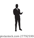 Business Man Black Silhouette Using Cell Smart 27792599
