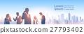 vector, cityscape, silhouette 27793402