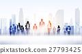 business, cityscape, silhouette 27793425