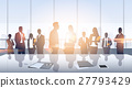 Business People Group Meeting Silhouettes Modern 27793429