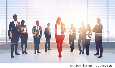 Business People Group Silhouettes Modern Office 27793436