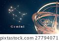 Zodiac Constellation Gemini And Armillary Sphere 27794071