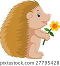 Cute hedgehog cartoon 27795428