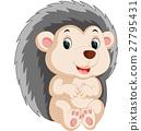 Cute hedgehog cartoon 27795431