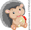 Cute hedgehog cartoon 27795432
