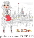 Cute girl in Riga, Latvia 27795713