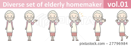佩带围裙vol.01的老妇人 27796984