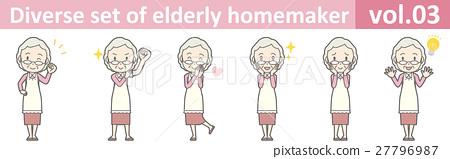 围裙vol.03的一名老妇人 27796987