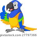 金刚鹦鹉 卡通 鸟儿 27797366