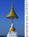 white buddha statue on blue sky 27797677