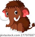 cute mammoth cartoon 27797687