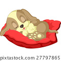 Cute dog cartoon sleeping 27797865
