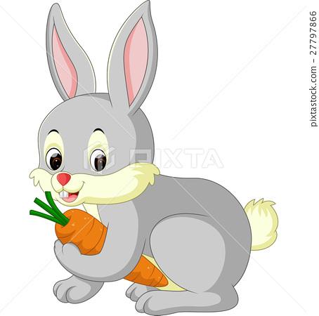 illustration of cute rabbit cartoon 27797866