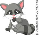 baby raccoon cartoon 27797868