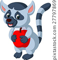 illustration of cute lemur cartoon 27797869