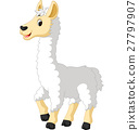 Llama cute cartoon 27797907