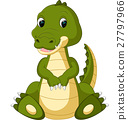 Cute crocodile cartoon 27797966