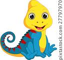 Cute Chameleon cartoon 27797970