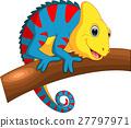 Cute Chameleon cartoon 27797971