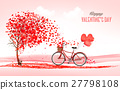 Valentine holiday background with heart shape tree 27798108