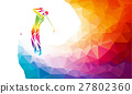 Silhouette of golf player. Vector eps8 27802360