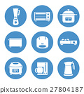 Appliances in the kitchen  icons set 27804187
