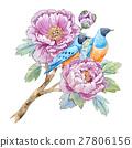 vector bird watercolor 27806156