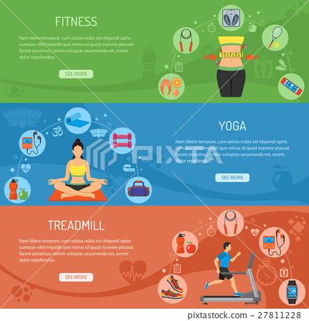 Yoga and Fitness Horizontal Banners 27811228