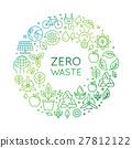 Vector logo design template - zero waste concept 27812122