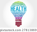 Health bulb word cloud 27813869