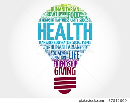 Health bulb word cloud 27813869
