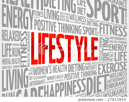 dfd8b825e62c3 LIFESTYLE word cloud, fitness - Stock Illustration [27813954] - PIXTA