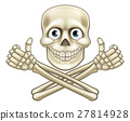 Skull and Crossbones Giving Thumbs Up 27814928