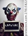 evil clown and text carnival 27815822