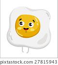油炸的 雞蛋 向量 27815943