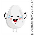 Funny happy egg isolated cartoon character 27815947