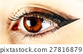 Woman Eye With Makeup And Long Eyelashes 27816879
