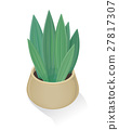 Flower in Pot Icon. Green Nature, Leaf, Gardening. 27817307