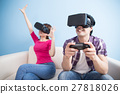young couple play vr game 27818026