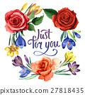 watercolor, wildflower, crocuses 27818435