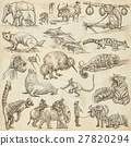 Animals. An hand drawn illustrations on paper. 27820294