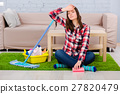 Tired after a home cleaning 27820479