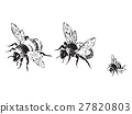 bee, vector, flying 27820803