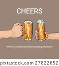Hand Hold Beer Glass Mug Cheers Oktoberfest 27822652