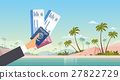 Hand Holding Ticket Boarding Pass Travel Document 27822729